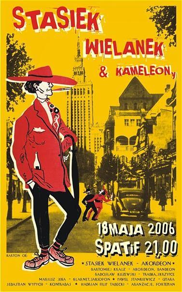 Stasiek Wielanek & Kameleony /bilboard/ulotka